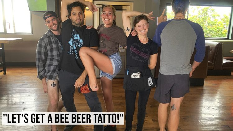 """Let's Get A Bee Beer Tatto!"""
